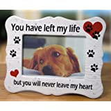 pet memorial ceramic picture frame you have left my life but you will never leave