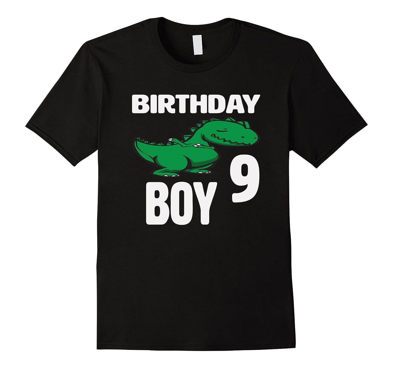 9th Birthday Boy Age 9 – Dinosaur Birthday Shirt