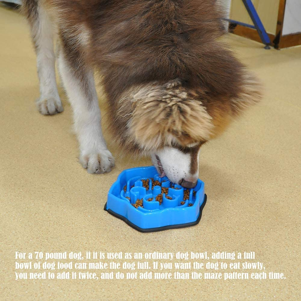 Dog Bowls Slow Down Feeding Pet Bowl Fun Eating No Chock Food Bowl Slow Feeder Bowl (A001B)