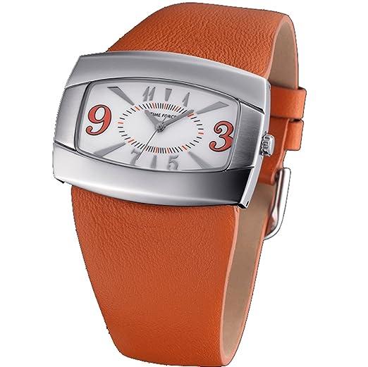 66f2efb57f97 Time Force TF-3222L12 - Reloj analógico para Mujer. Correa de Piel de vaca  color Marrón.  Amazon.es  Relojes