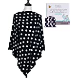 Nursing Covers by Chuckle & Cuddle |  Full Coverage Nursing Ponchos, Car Seat Canopy, Swaddle, Shopping Cart Cover, & Eliminates The Need For Costly Breastfeeding Clothing | Any New Mom's Best Tool