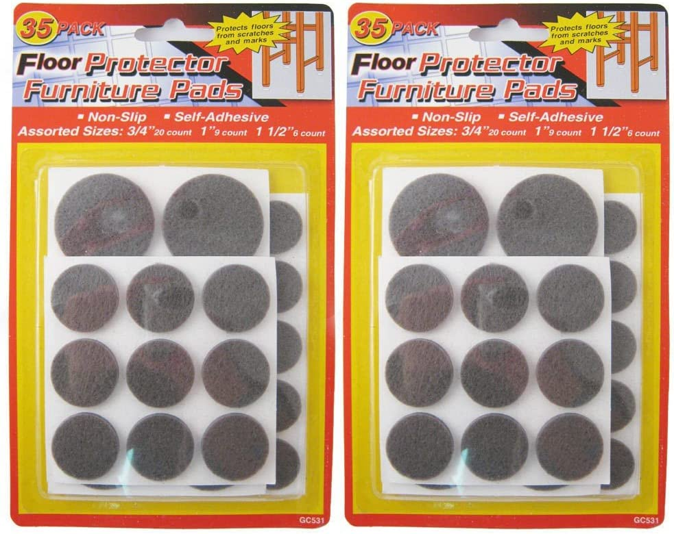 Self Adhesive Round Felt Pads Furniture Floor Chair Scratch Protector 35 Pc