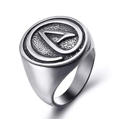 Amazon.com: elfasio para hombre para mujer anillos de acero ...