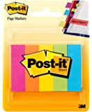 "Post-it Page Markers, .5"" x 2"", Assorted Fluorescent Colours, 5 Pads/Pack"