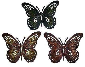 Deko Schmetterlinge Metall.Metall Deko Schmetterling 3er Set