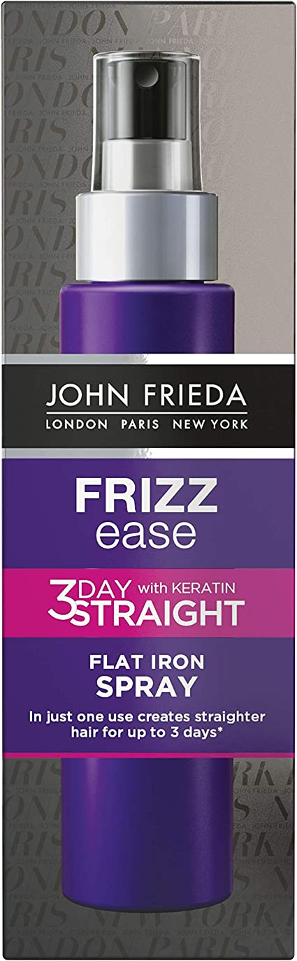 John Frieda Frizz Ease 3 Day Straight Hair Straightening Styling Spray for Frizzy Hair, 100ml