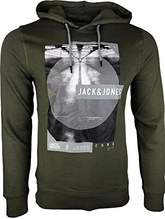 JACK & JONES - Sudadera con Capucha - Liso - para Hombre #1 Grün XL