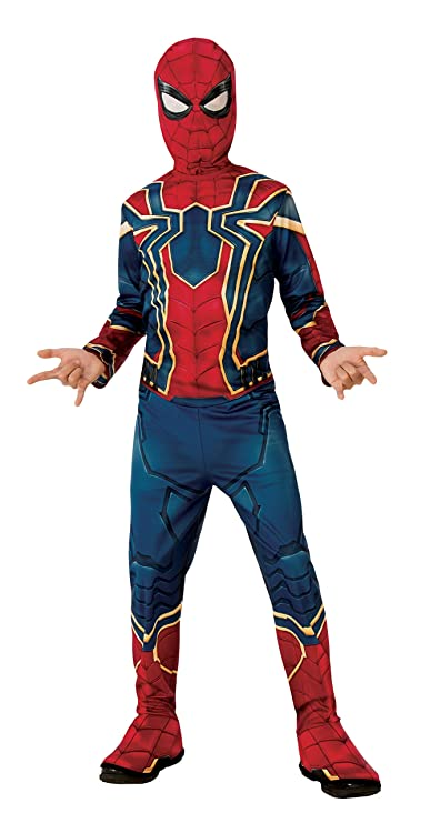 Rubie S Official Avengers Infinity Wars Iron Spider Spiderman Classic Child Costume Small Age 3 4 Height 117 Cm