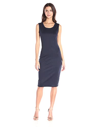 Star Vixen Women's Sleeveless Classic Slim Fit Midi Sheath Dress