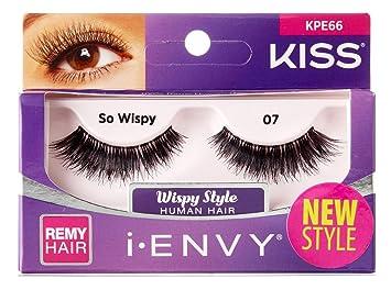 b100e93a375 Amazon.com : Kiss I Envy So Wispy 07 Lashes (6 Pack) : Beauty