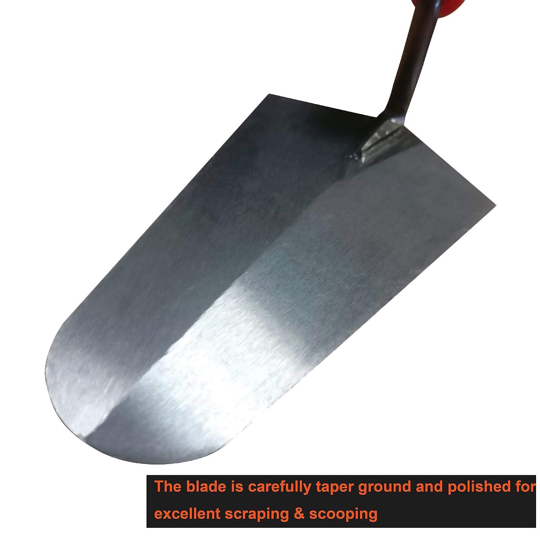 Paleta de acero inoxidable con mango suave para enyesado acodadura Sharp-Tec 150 mm, naranja alba/ñiler/ía