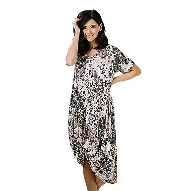 aa66d3517b6ca Nesting Olive Buttery Soft Modern House Dress | Night Gown, Sleep Shirt,  Nursing and