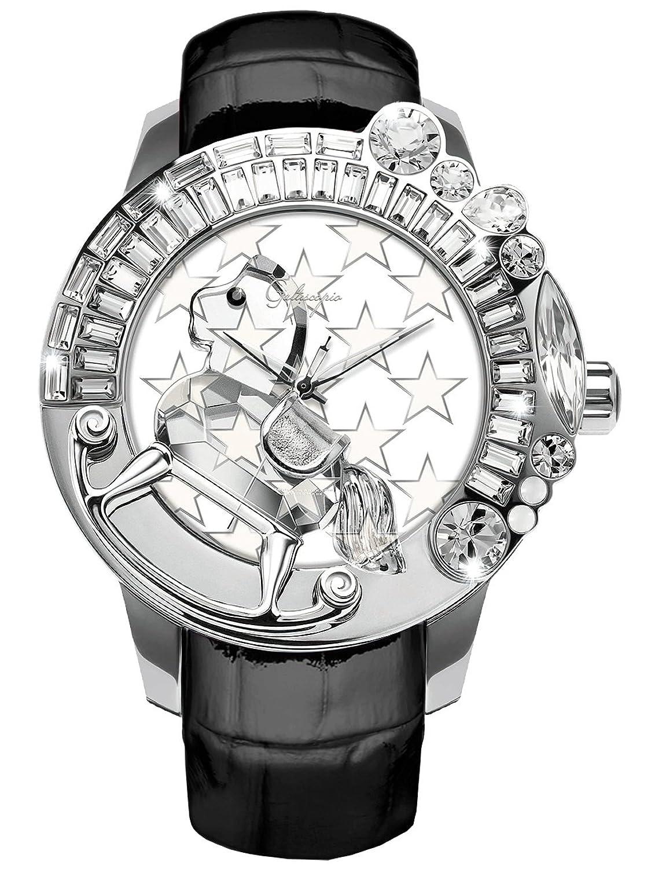 [ガルティスコピオ] Galtiscopio 腕時計 LG1SZS001BLS 星5 スター柄 黒 スワロフスキー クリスタル キラキラ ユニセックス 日本正規総代理店 [正規輸入品] [時計] B00FC8KZOG
