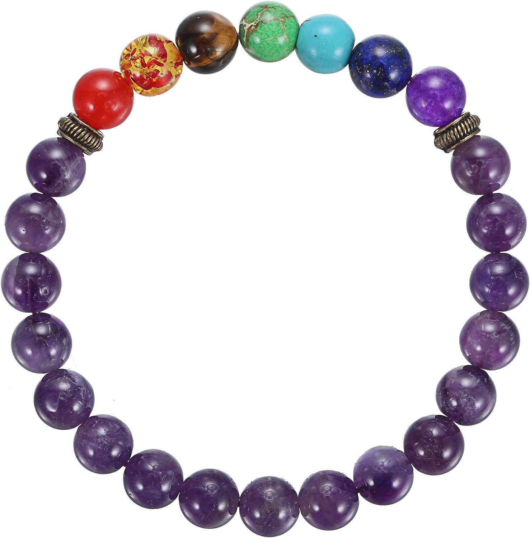 Double Rainbow Beaded Gemstone Bracelet
