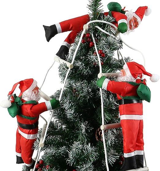 willkey Papá Noel en Escalera Decorativa navideña para Interior y Exterior Navidad dekoraion Santa Claus Papá Noel, 3 Santa: Amazon.es: Juguetes y juegos