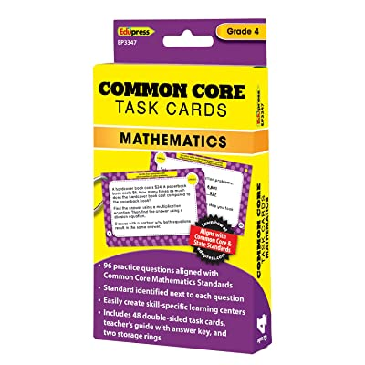 Edupress Common Core Task Cards, Math, Grade 4 (EP63347) : Office Products