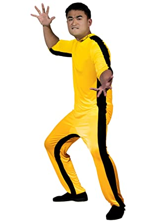 Round 5 - Disfraz de Bruce Lee (talla L), color amarillo ...
