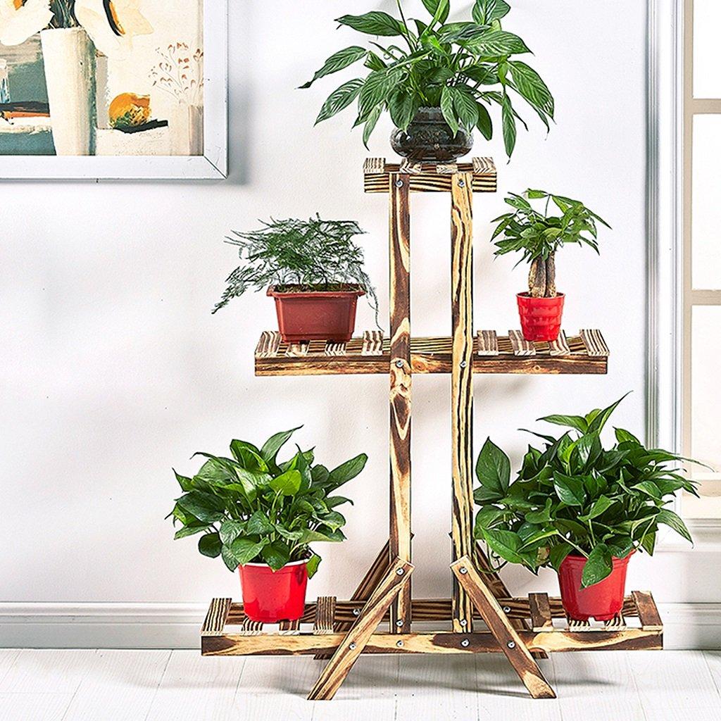Huajia huapen Ripiano per fiori in legno, mensola a fiori in multistrato angolare portavaso portavaso, portabottiglie per soggiorno da giardino, portafiori, supporto da fiori in legno fatto a mano