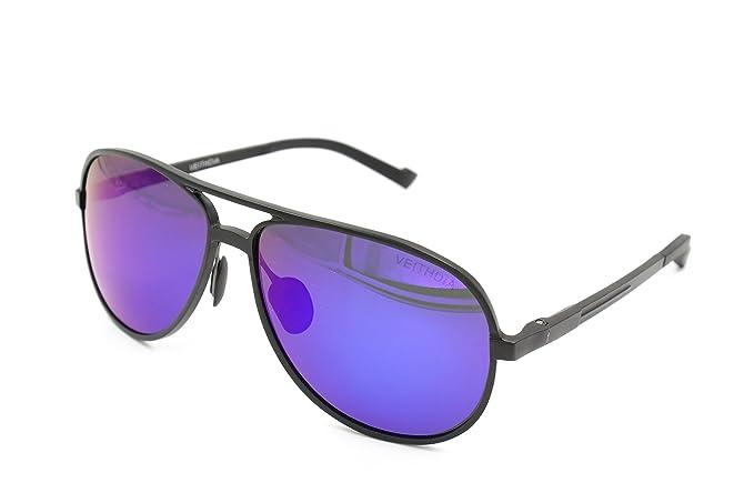 VEITHDIA 2287 gran cuerno con borde de ajustable UV400 polarizadas gafas de aviador
