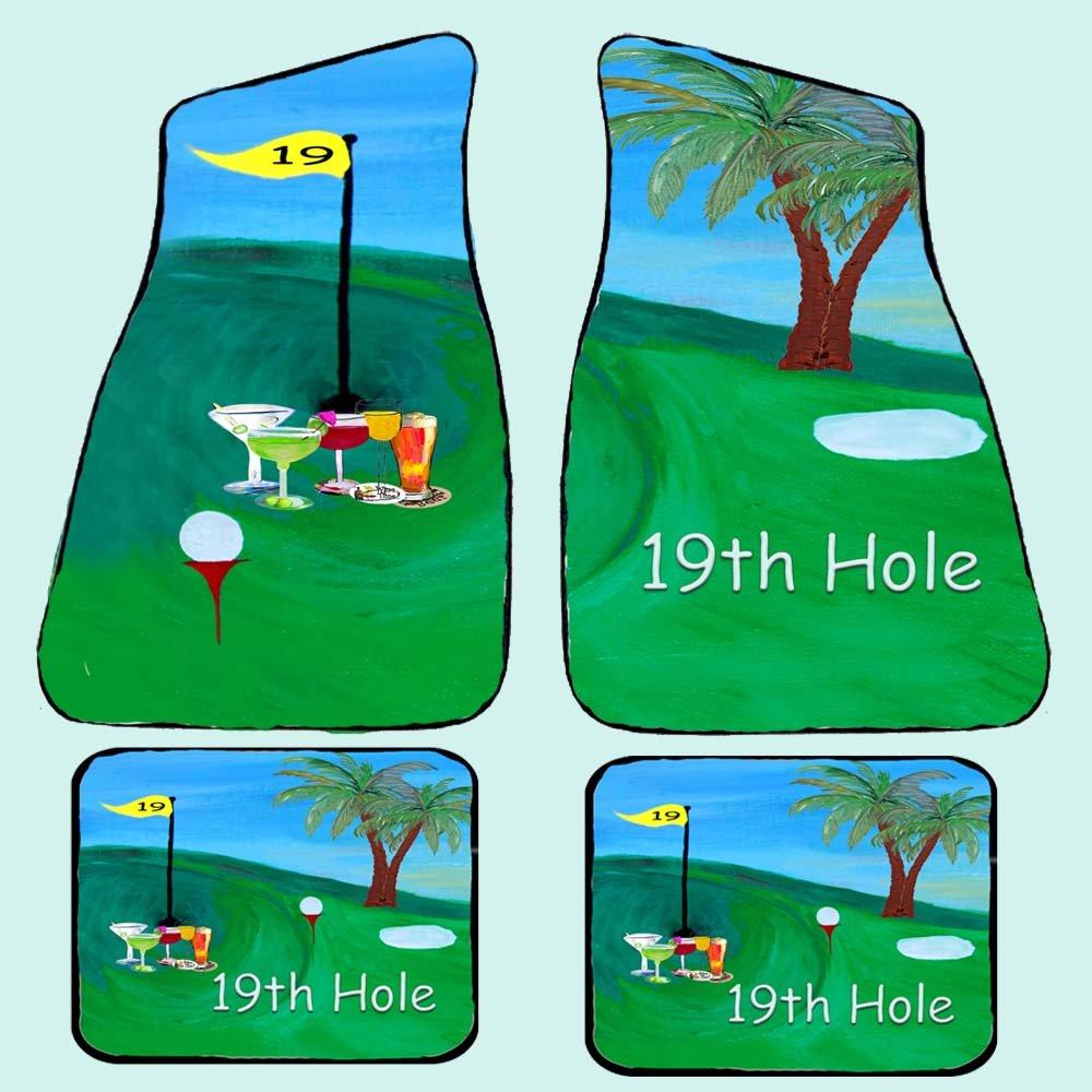 Golf 19th Hole Art Auto Car Floor Mat Sets