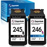 ZepmTek Remanufactured Ink Cartridge Replacement for Canon PG-245 CL-246 PG-243 CL-244 Used with Pixma MG3022 MG2522 TR4520 T