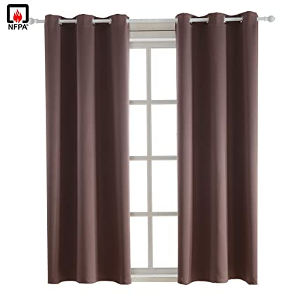 e0927cc8a6fa BEGOODTEX Flame Retardant Curtains Fire Resistant Curtain for Kitchen  Window
