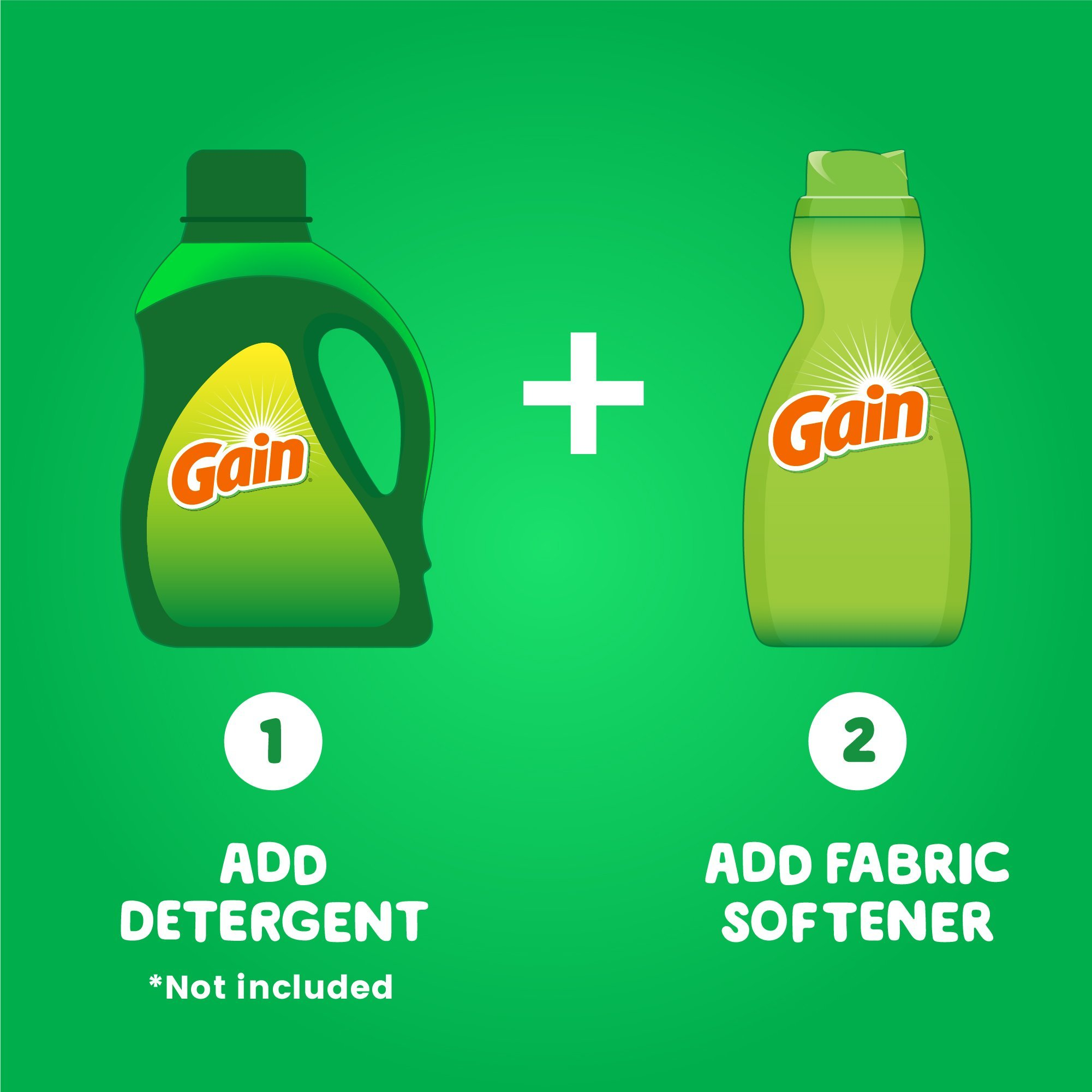 Gain Liquid Fabric Softener, Original, 41 fl oz, 4 Count by Gain (Image #5)