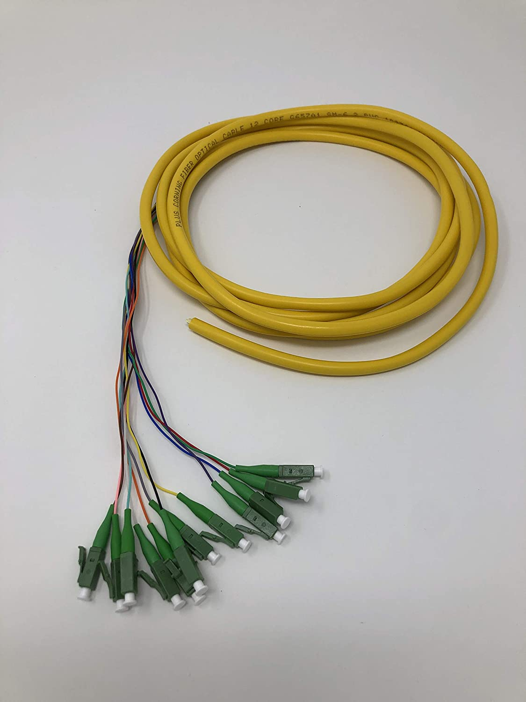 Ultra Spec Cables 12 Strand Singlemode LC-UPC Fiber Pigtail 3 Meter