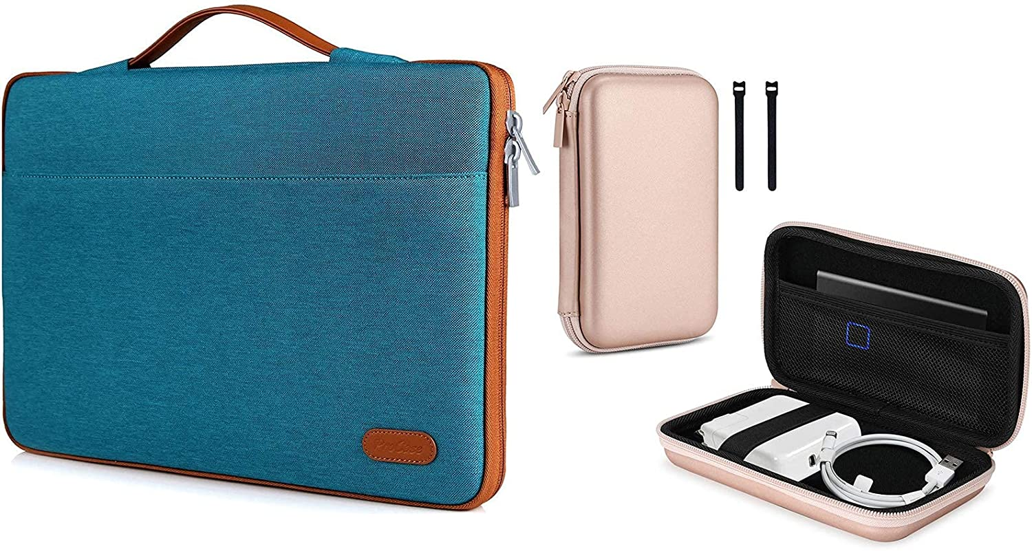 ProCase 13-13.5 Inch Sleeve Case Cover Bundle with Carrying Case for MacBook Air/Pro Power Adapter Charger, USB C Hub