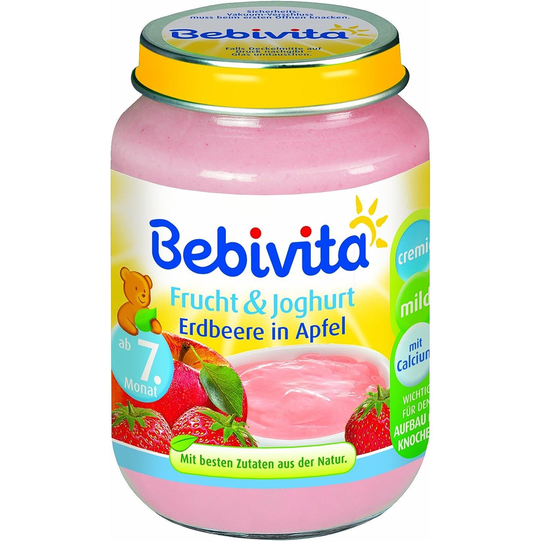 Bebivita Frucht & Joghurt Erdbeere in Apfel