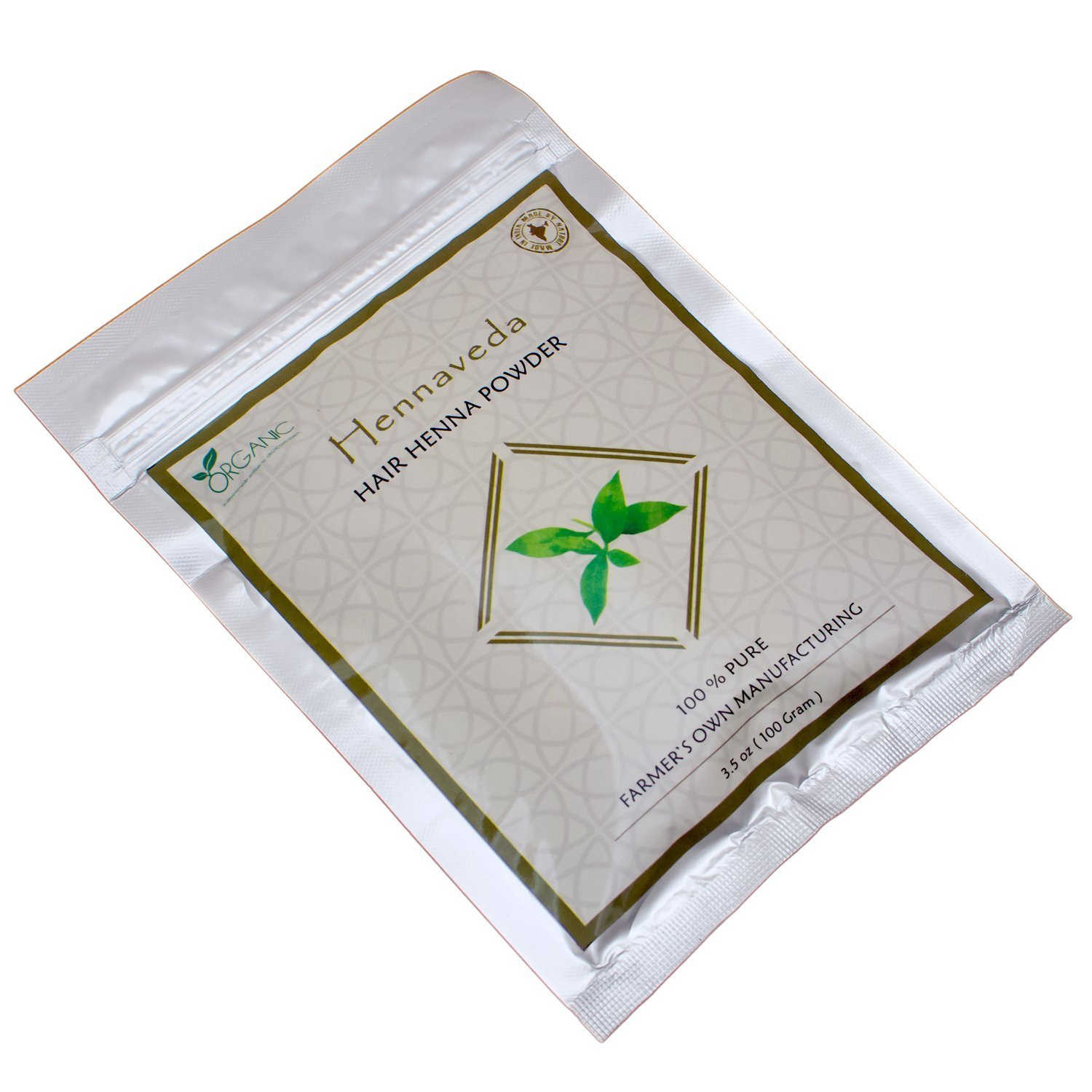 Hennaveda Henna Powder-100% Natural Lawsonia Inermis -100Gms/3.52 Oz product image