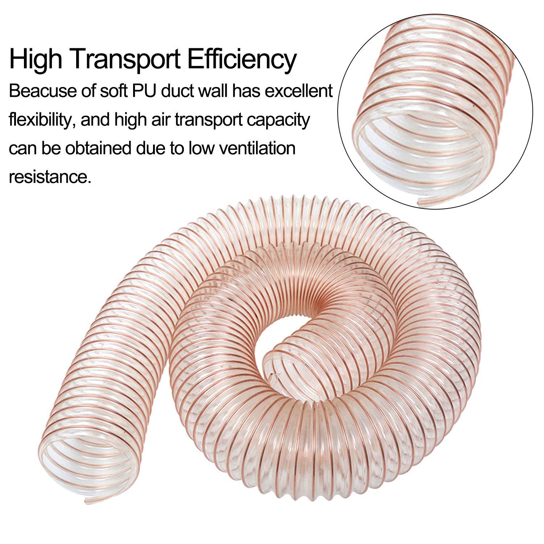 Hon/&Guan Tubo de Manguera de Ventilaci/ón Tubo Aire Flexible di PU 100mm