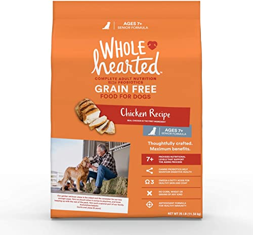 WholeHearted Grain Free Senior Chicken Recipe Dry Dog Food