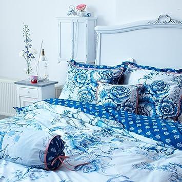 Pip Studio Wendebettwäsche Toile De Pip Blau 135x200 Cm 80x80 Cm