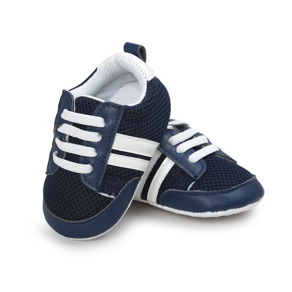 Baby Boys Girls Sneaker Breathable Lightweight Soft Sole Anti-Slip Infant Crib Shoes Fisrt Walkers