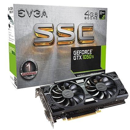 EVGA GeForce GTX 1050 Ti SSC Gaming ACX 3.0, 4 GB GDDR5, DX12 OSD (PXOC) Tarjeta Grafica 04G-P4-6255-KR
