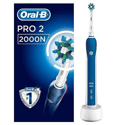 Oral B PRO 2 2000N CrossAction Cepillo Eléctrico Recargable con Tecnología de Braun 1 Mango 2 Modos Incluyendo Cuidado de Las Encías Y 1 Cabezal de Recambio