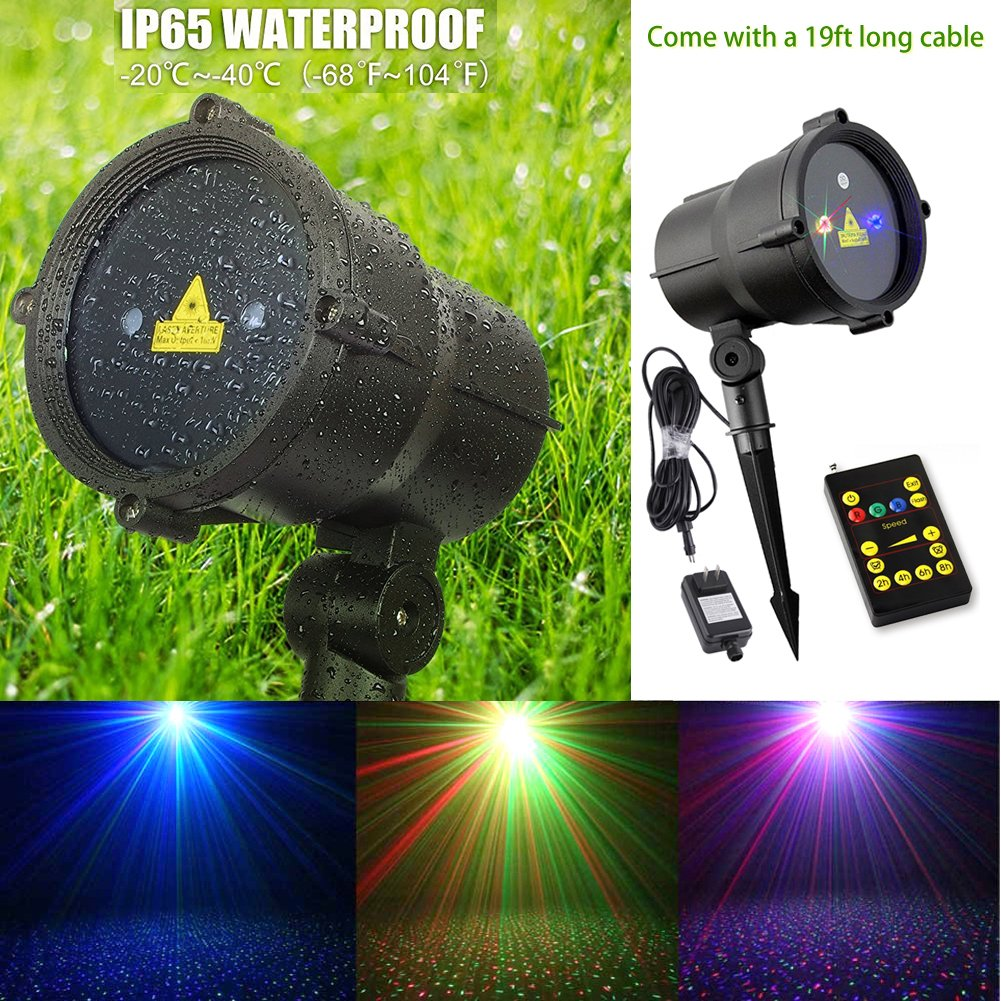 Almatess christmas laser lights outdoor waterproof rgb moving almatess christmas laser lights outdoor waterproof rgb moving landscape star projector with 19 feet long cable garden laser lights for christmas decoration aloadofball Choice Image