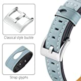 Dizywiee for fitbit charge 2 bands, Fitbit charge 2 accessory wristband with stainless steel connector, Genuine leather charge 2 replacement bands women men