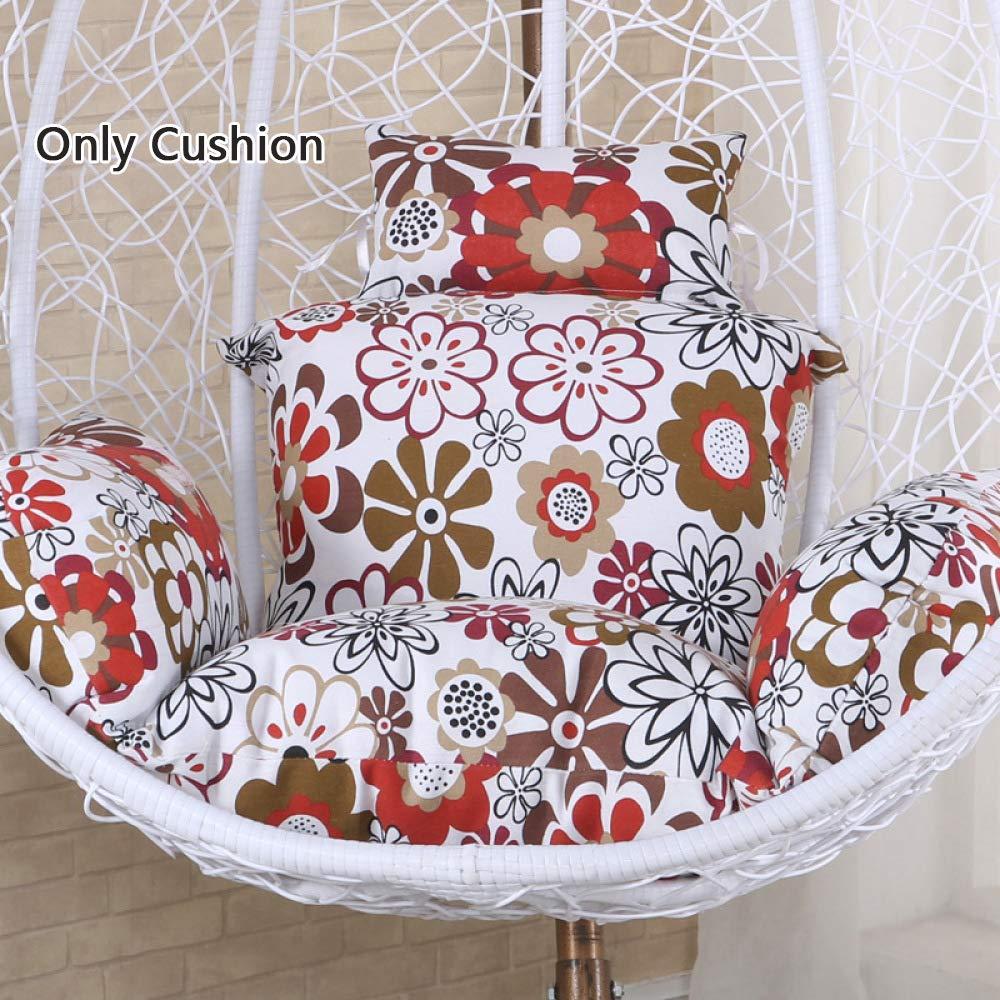 Monthyue Swing Cuscini Cuscino Sedile Rimovibile Cestini Appesi Imbottiti in Cotone PP Cuscini per Sedie Egg,A