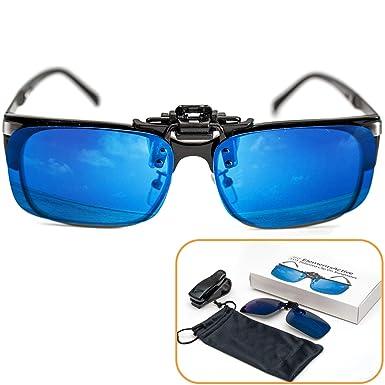 Gafas de sol accionadas por clip polarizadas con reflejos ...