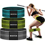 BERTER Resistance Bands for Legs and Butt, Workout Exercise Hip Bands, Fitness Booty Loop Non-Slip Bands for Squats…
