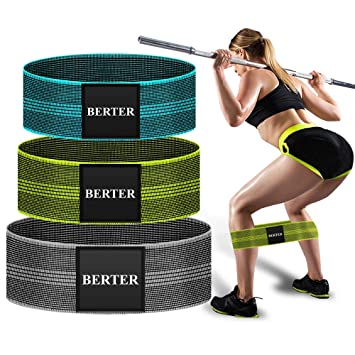 BERTER Resistance Bands for Legs and Butt, Workout Exercise Hip Bands, Fitness Booty Loop Non-Slip Bands for Squats, Deadlifts, Yoga, Sport