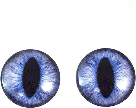 Par De Ojos Azules De Cristal disponibles en tamaños de 6mm a 20mm Dragon Ojo De Gato 001