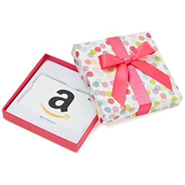 Amazon.com Gift Card in a Dot Box (Classic White Card Design)