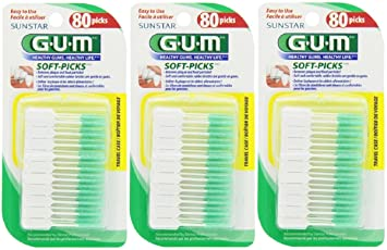 Ct Pick 3 >> Amazon Com Gum Soft Picks 80 Ct Pack Of 3 Health Personal Care