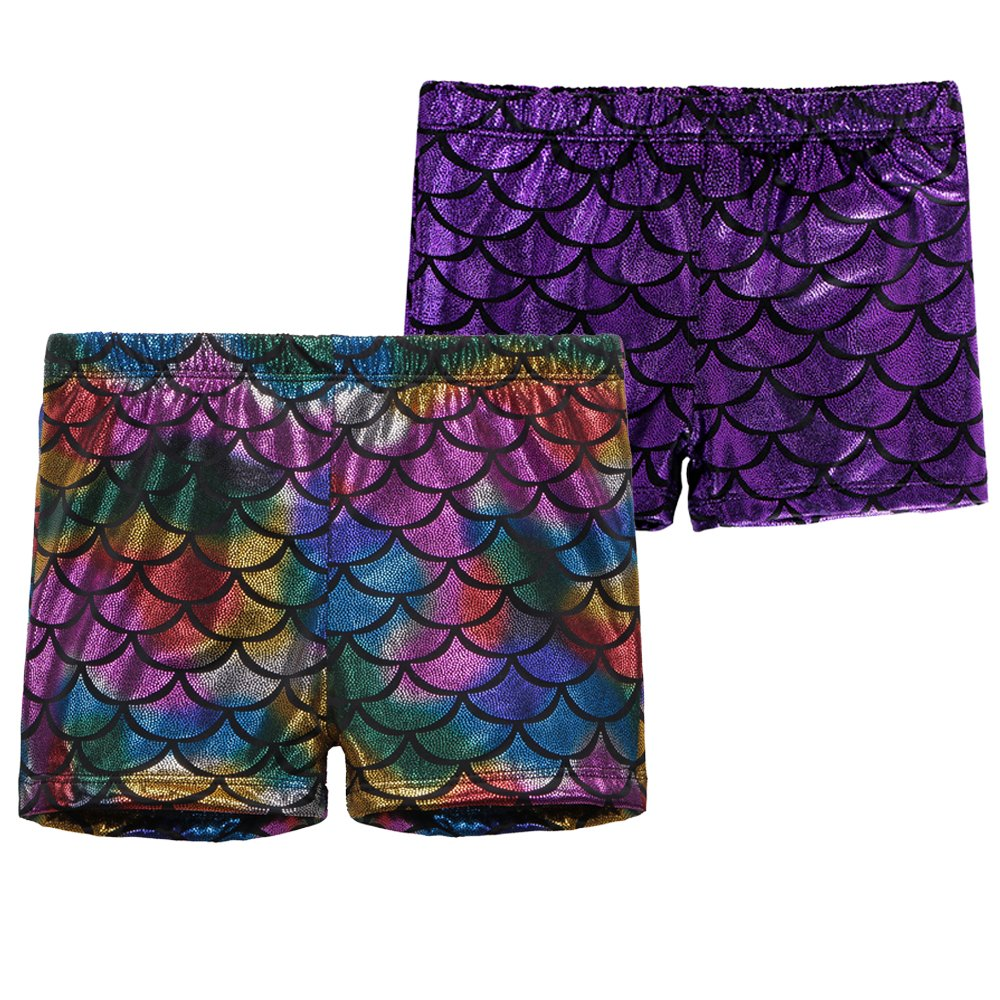 BAOHULU Girls Dance Shorts Sparkle Gymnastics Tumblewear