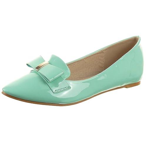 Sopily - Zapatillas de Moda Mocasines Bailarinas Tobillo mujer brillantes nodo Talón Tacón ancho 0.5 CM - Verde WL-9217-3 T 41: Amazon.es: Zapatos y ...