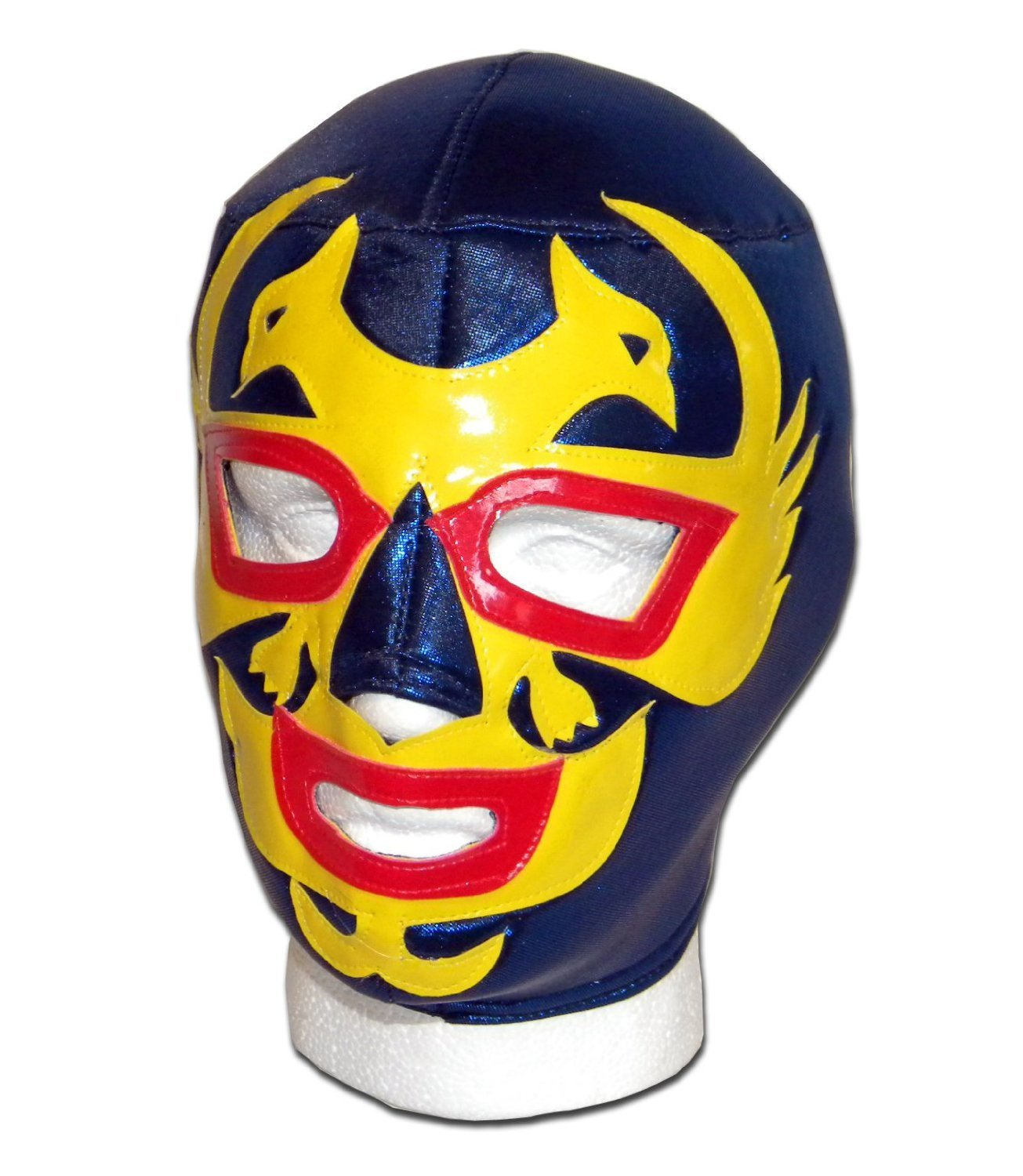 WRESTLING MASKS UK Men's Dos Caras Lucha Libre Luchador Wrestling Mask One Size Blue/Yellow by Wrestling