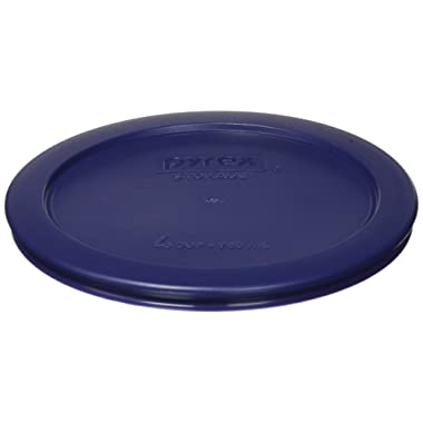Pyrex 4 Cup Round Plastic Cover 4-Pack, Navy Blue